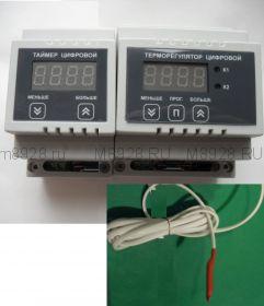 Терморегулятор и таймер поворота лотков с яйцами в инкубаторе ЦТР-10+АПЛ-4