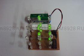 """Радиоконструктор № 031,  """"Простой светодиодный 3D куб 3х3х3"""""""